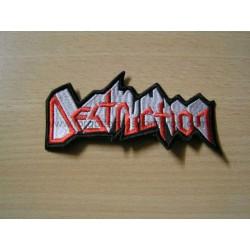 DESTRUCTION shaped patch