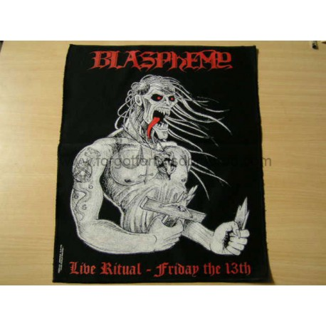 BLASPHEMY - Live Ritual backpatch