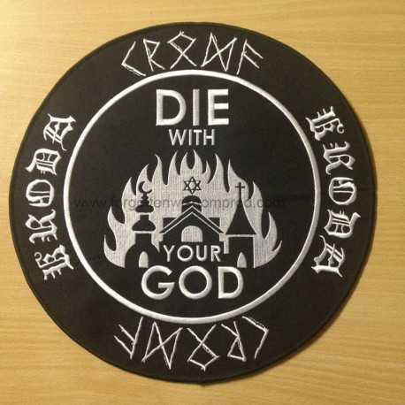 "KRODA ""Die with your God"" backpatch"
