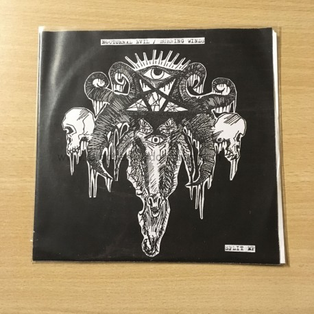 "NOCTURNAL EVIL/BURNING WINDS split 7""EP"