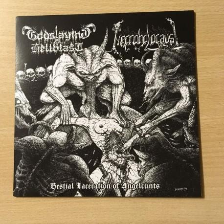 "GODSLAYING HELLBLAST/NECROHOLOCAUST split 7""EP"