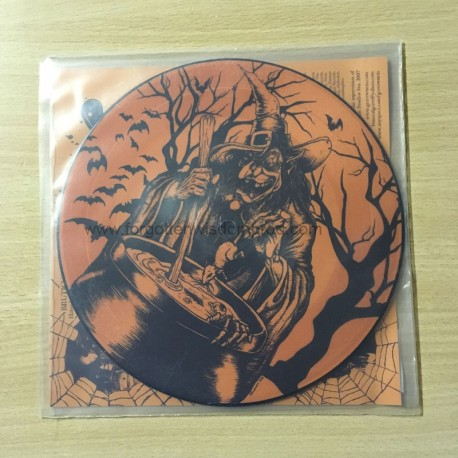 "NUNSLAUGHTER/GRAVEWURM split 7""PIC EP"