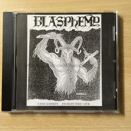 "BLASPHEMY ""Live Ritual - Friday the 13th"" CD"