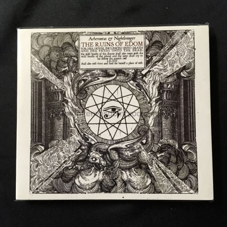 "ACHERONTAS/NIGHTBRINGER ""The Ruins of Edom"" split digipack CD"