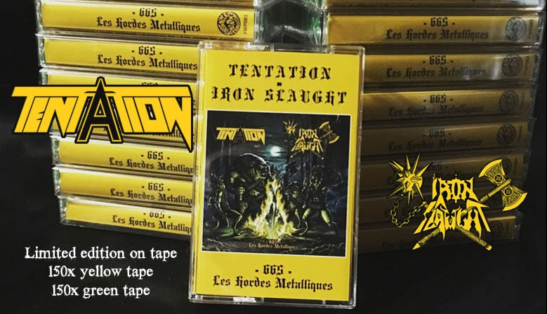 TENTATION IRON SLAUGHT split tape