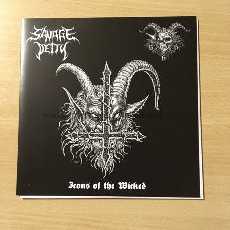 "SAVAGE DEITY/GOATCHRIST666 split 7""EP"