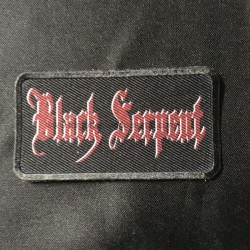 BLACK SERPENT logo small patch